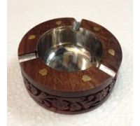 Wooden handicraft ash tray