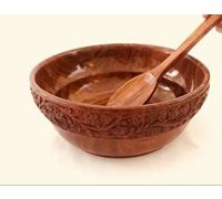 Wooden bowl with spoon