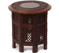 Wooden carving stool handicraft
