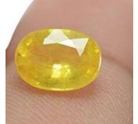 yellow Sapphire oval pukhraj stone 8.25 ct