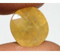 yellow Sapphire oval pukhraj 6.5 carrot