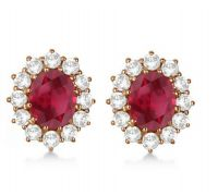 Ruby diamonds earrings manik earrings