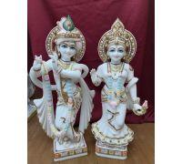Yugal murti Radha krishan in marble stone radha krishna idol