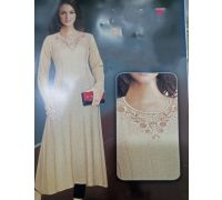 Woolen long kurti pure knitting  code 5