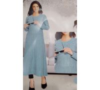 Woolen long kurti knitting code 9