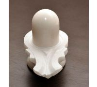 White marble shivling 2.5 inches