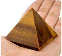 Tiger eye Pyramid natural tiger eye Pyramid 2×2 inches