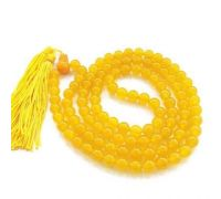 Yellow agate - yellow hakik mala
