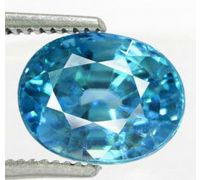 Zircon blue jarkan jerkin natural blue jarkin oval shape