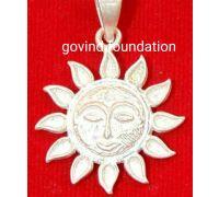 Sun locket pure silver sun locket pendant