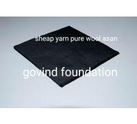 Woolen asan black pure sheep yarn wool Pooja asan  kala uni asan 28×20 inches