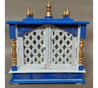 Wooden temple for home handcrafted wooden Pooja mandir with door