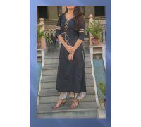puer cotton black kurti with katha plazzo CODE 9
