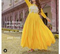 yellow designer kurti CODE 2