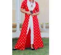 Red and white designer kurti