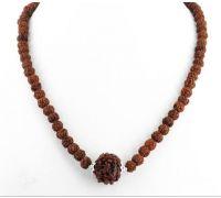 Rudraksh mala handmade 108 beads 5 mukhi single silver cap