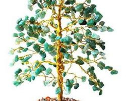 Green aventurine stone tree green stone tree