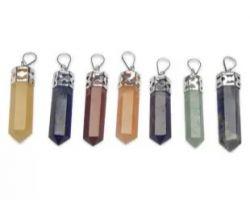 7 stone pencil pendant 7 chakra stone pencil pendant