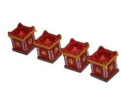 Diwali diya tulsi clay diya set of 5