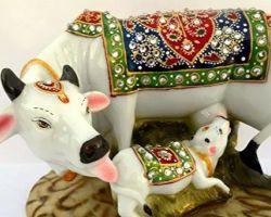 Gomata statue cow sculpture gomata