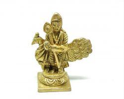 Brass kartikey idol kartikey murti