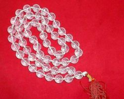 Sphatik mala diamond cut crystal clear mala 108 beads