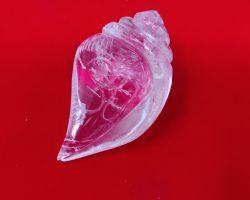 Sphatik shankh crystal shankh crystal conch crystal shell 1.25 inches