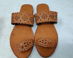 Camel leather sleeper camel leather ladies Kolhapuri type sleeper