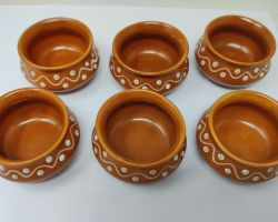 Ceramic chutney bowls beautiful small size bowl for sauce and chutney set of 6