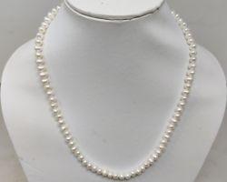 Pearl necklace semi precious pearl necklace