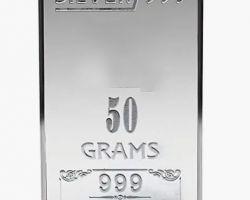 Silver bar solid silver bar 50gm
