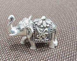 Silver elephant trunk up  chandi ka thoss hathi 200gm