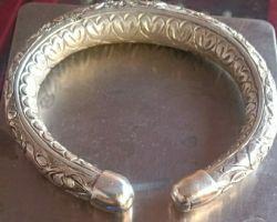 Silver bangle solid silver kada chandi ka thoss kada designer 255gm