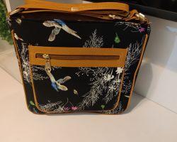 Bag handbag cum shoulder bag printed handbag black