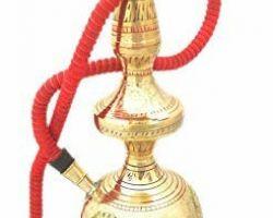 Brass hooka with pipe brass handworked hookka