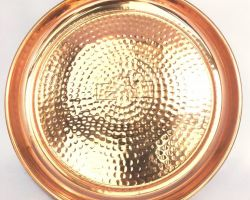 Copper plate hammered design copper plate 11 inches