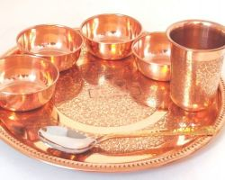 Copper dining set 7 piece copper dining set