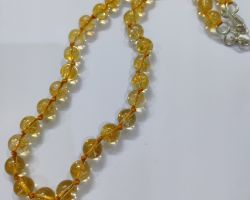 Citrine mala natural citrine stone necklace sunela mala 10mm