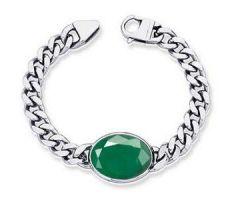 Emerald silver bracelet panna bracelet
