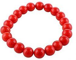 Coral bracelet Moonga bracelet coral beads bracelet 8mm