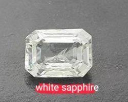 White sapphire Ceylon natural white sapphire stone rectangular 5.5 carrot