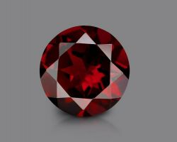 Garnet stone red garnet round shape gomed 7.25 ratti  10mm