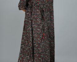 Kaftan long vegetable dye handblock print ajrakh cotton code 2