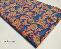 Bagru rapid handblock print cotton dress material  for kurti , plazo , gown , night suit code 5