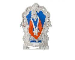 Sai Baba statue Silver plated sai baba idol  pearl