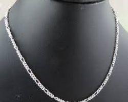 Silver chain pure silver neck chain cut work 18gm
