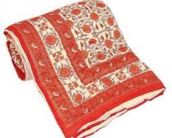 Jaipuri  quilt light weight Rajai double bed code 11