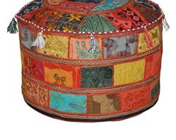 Rajasthani handmade patchwork embroidery mudda