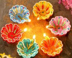 Diwali diya rangoli diya clay diya designer diya set of 5