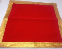 Red pooja cloth  50×50 cm